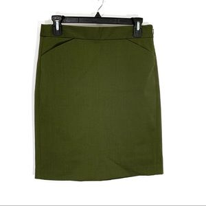 Theory Green Career Skirt